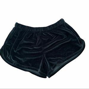 Brandy Melville Velvet Shorts One Size